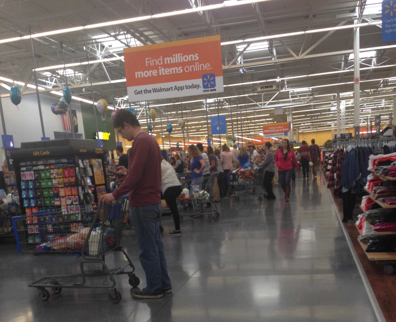 Long Lines in Walmart