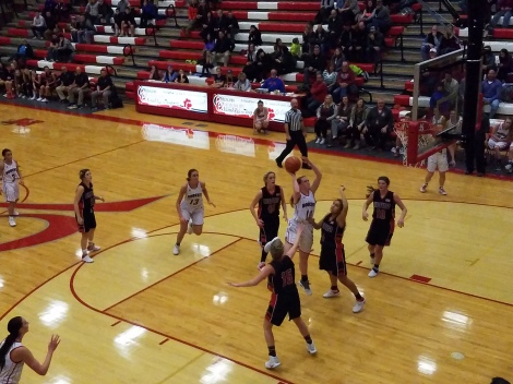 Madison's Hannah Wilson made a field goal during the fourth quarter.