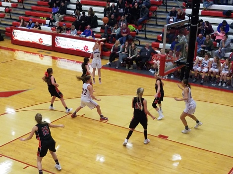 Madison's Ryan Tyler made a three-pointer in the third quarter giving Madison the lead.