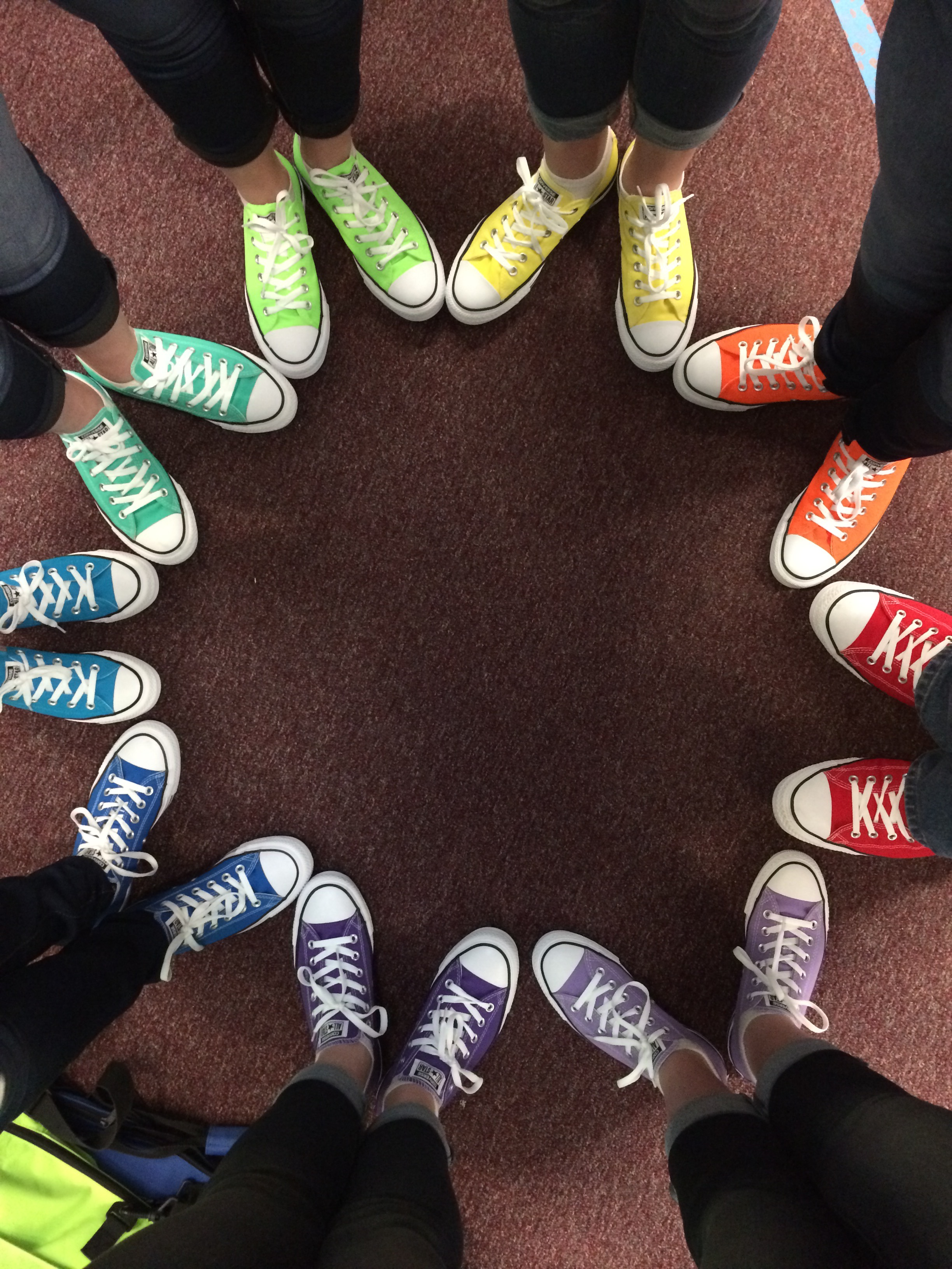 "Winter guard sporting their ""New Shoes"". Photo taken by Junior Allyn Forbush"