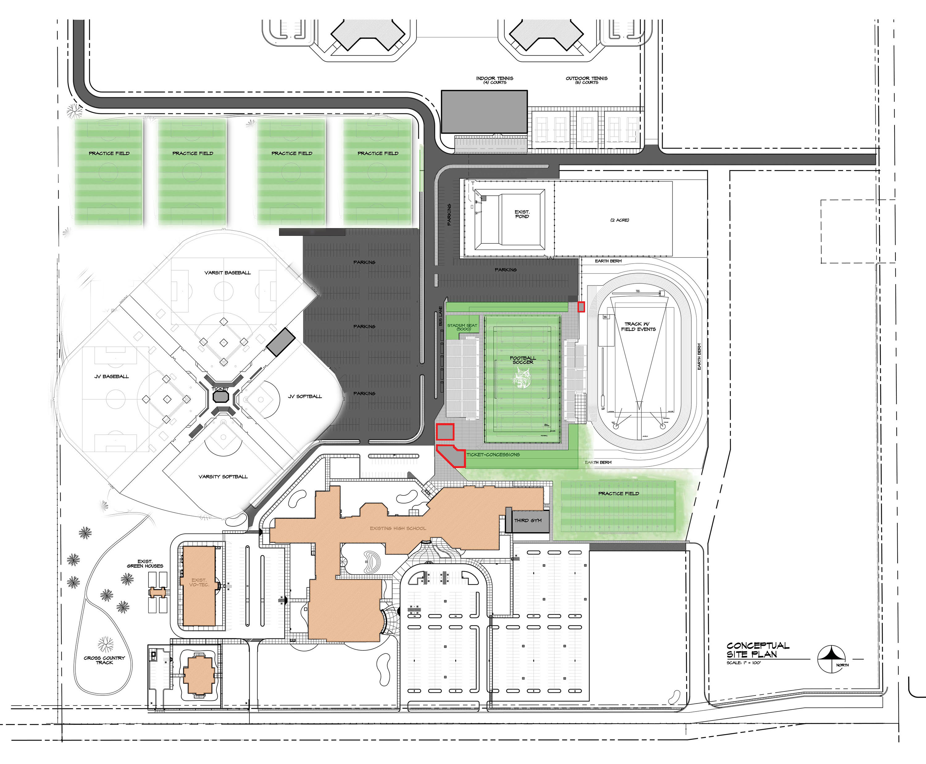 Madison 39 s new sports complex bobcat beat for Sports complex planning design